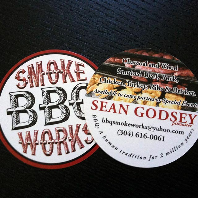 Smoke works bbq business cards portfolio of stuff we39ve for Bbq business cards