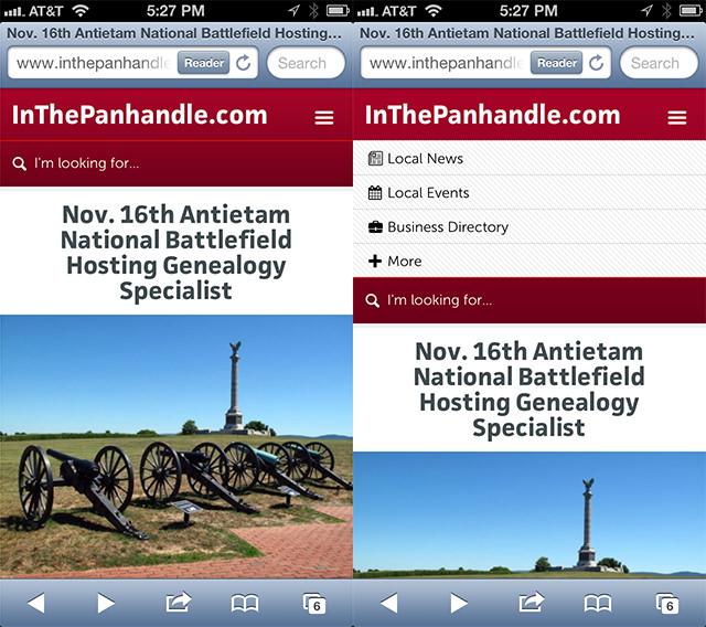 InThePanhandle.com Header Nav - Day 6