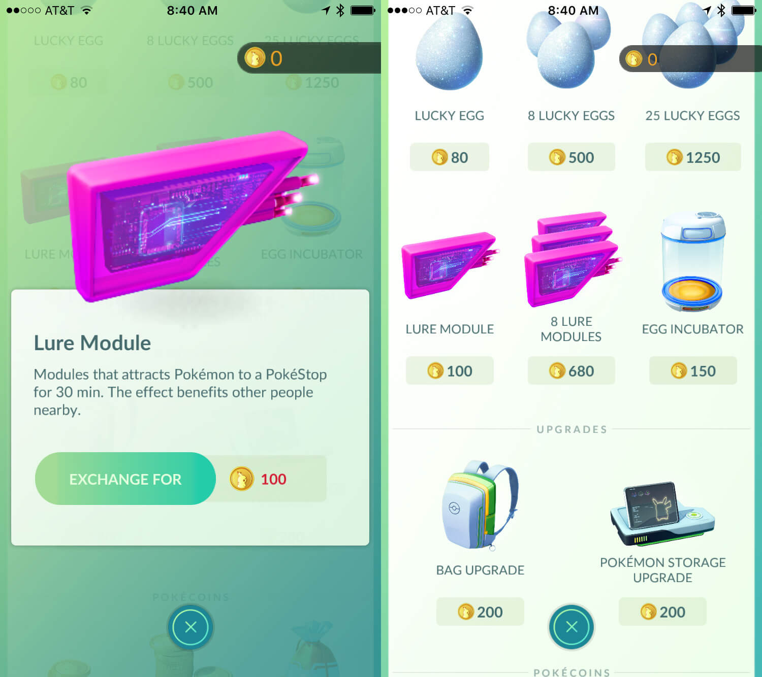 Pokémon Go Lure Modules