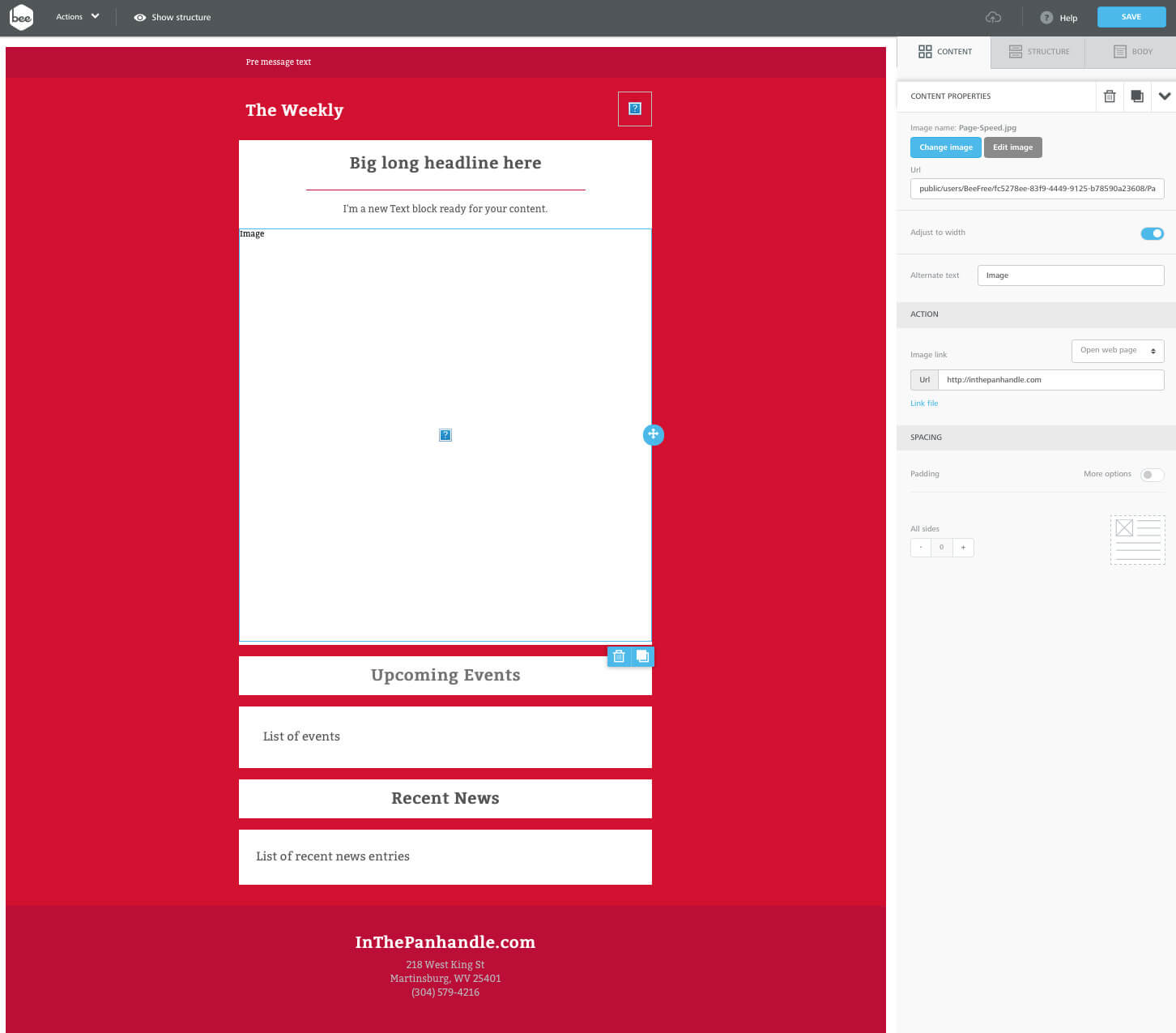 Using Beefree.io with Sendy