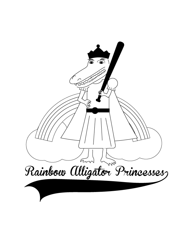 Rainbow Alligator Princesses Logo