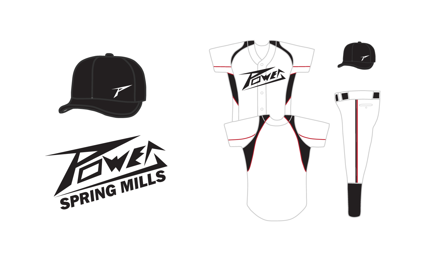 Spring Mills Power Logo and Uniform text